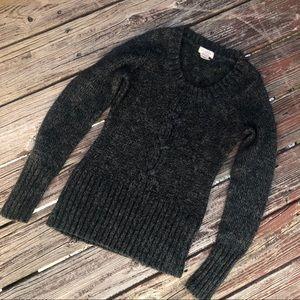 Dark Grey/Black Knit Sweater